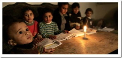 children of gaza in dark