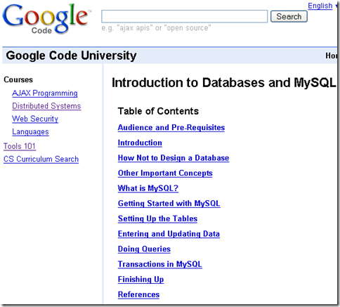Google Code University - Google Code