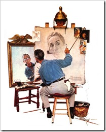 009_575-010~Norman-Rockwell-Triple-Self-Portrait-Posters