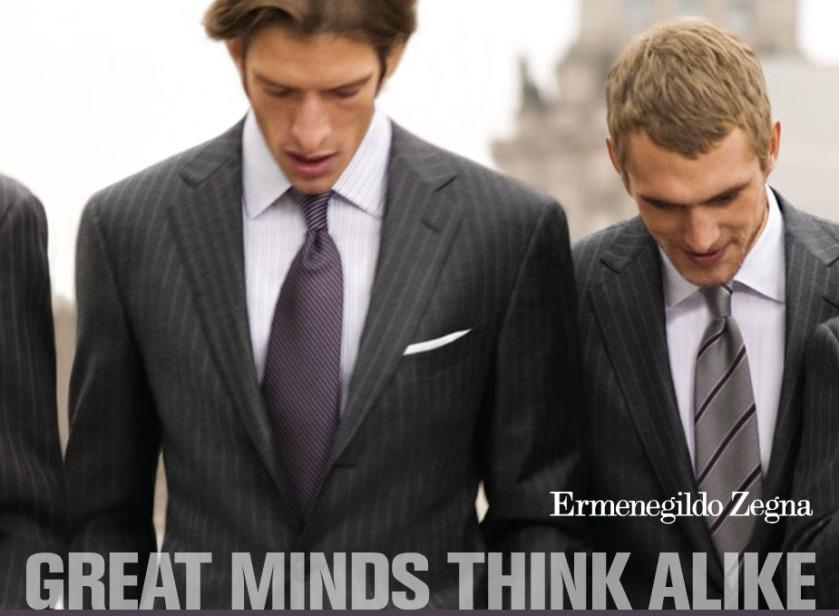 ذهنهای بزرگ مثل هم فکر میکنند.