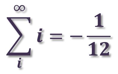 حاصل جمع همهی عددهای طبیعی نامتناهینیست؟!